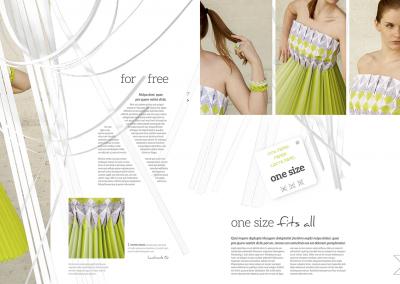 Magazine trashion paperdress