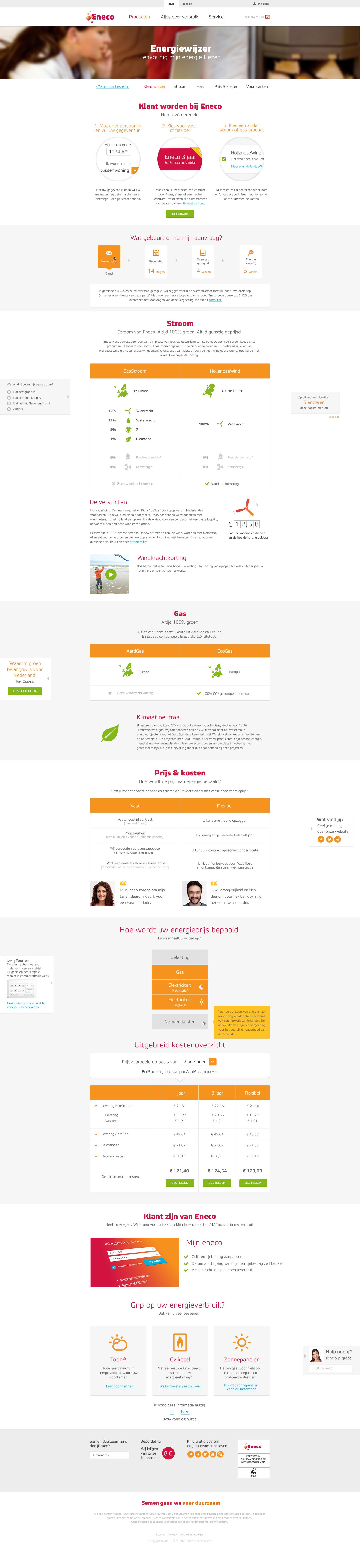 Eneco Contractdetailpagina